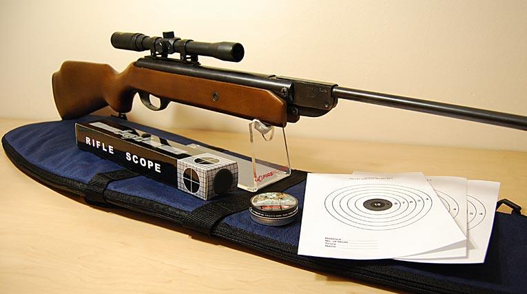 RUSSIAN BAIKAL Air Rifle KIT - Scope, Bag, Pellets, Targets