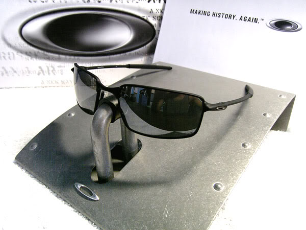 b6beff3487a OAKLEYS Polarized SQUARE WHISKER Polished Black Black Iridium Sunglasses