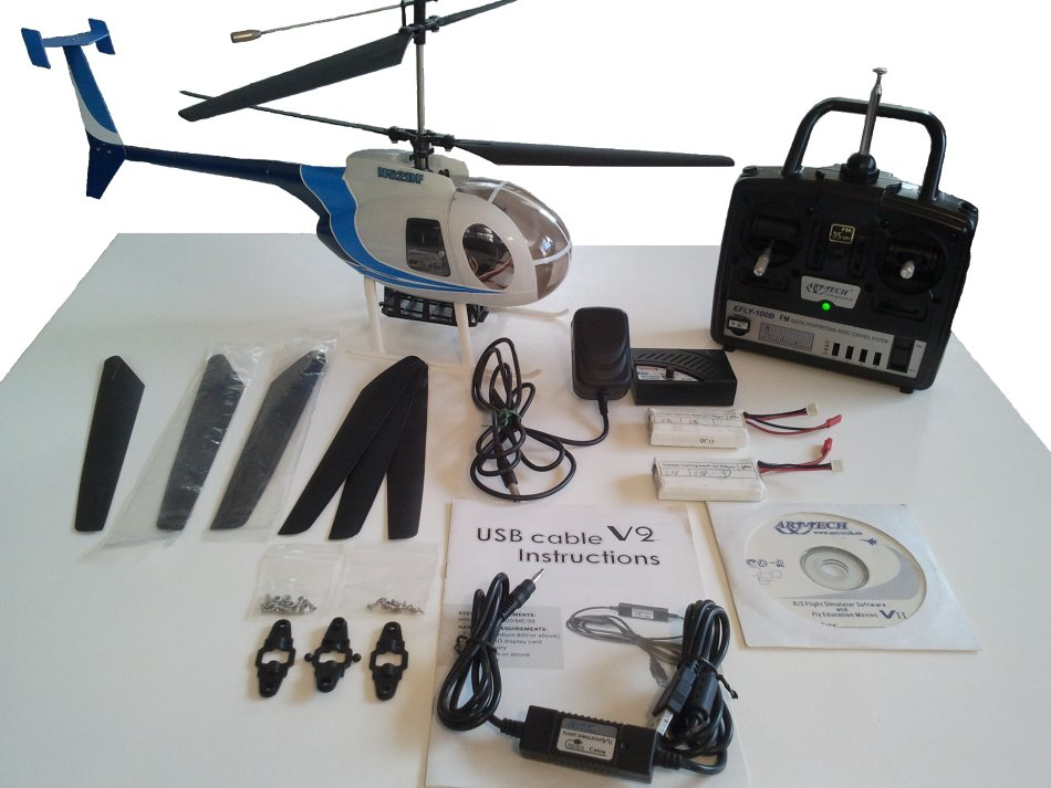 Helicopters Art Tech Md500 Rc Helicopter 4 Channel Fm