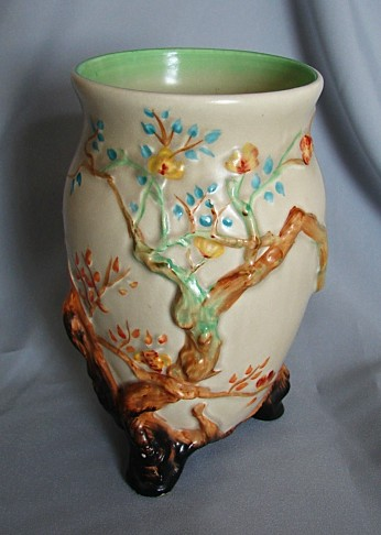 English Porcelain Clarice Cliffcherry Tree Vase1937 1938 Was