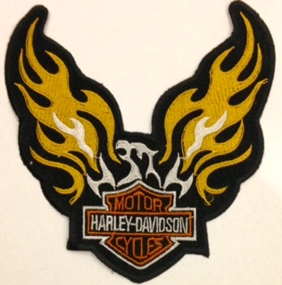 Other Motorcycle Parts - Harley Bikers Embroidery Patch Flame Eagle Was Sold For R100.00 On 9 ...
