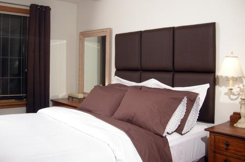 Custom Made Faux Suede Square Wall Panel Headboard