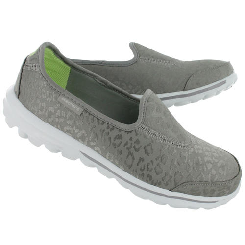 Original Ladies Skechers Go Walk Safari (Silver) - UK 4 (SA 4) Resalyte  Cushioning 72788b6d67d1