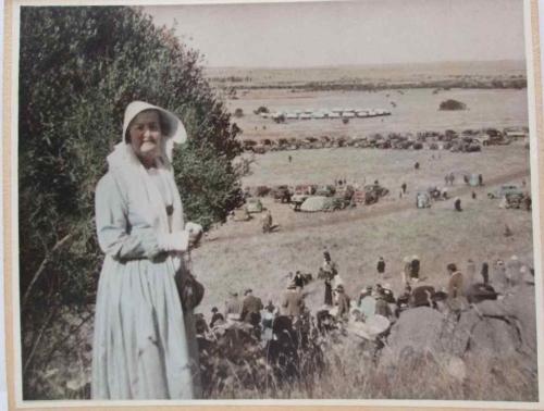 Vintage Coloured Photo Print Of A Commemorative Voortrekker Event - 25cm/21cm