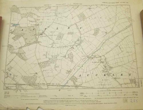 Yorkshire (West Riding) Sheet CCLXXXV NE - Doncaster Divison Map - 55,5cm/40,5cm