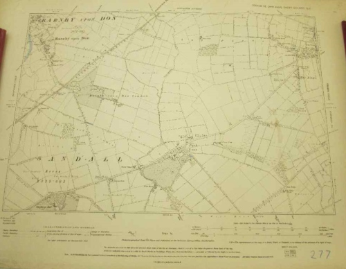 Yorkshire (West Riding) Sheet CCLXXXV NE - Doncaster Divison Map - 55,5cm/40,5cm