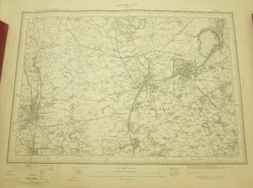 Stocton On Tees (Durham 27) Ordnance Survey Of England Map- 61cm/46cm