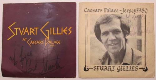 2X Autographed Stuart Gillies At Caesars Palace 7 Singles: DASG 1, 1979 & SRT/80/CUS 702-A