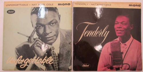 2X Nat King Cole Mono 7 Singles, Capitol: Unforgettable EAP-20053 & Tenderly EAP1-20108