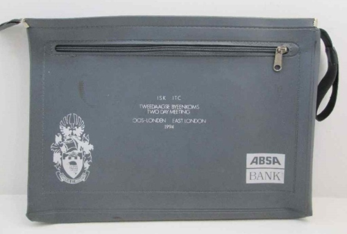 ABSA Bank ISK/ITC Two Day Meeting 1994 - Vintage Promotional Zip-Up Leatherette Folder - 39cm/28cm