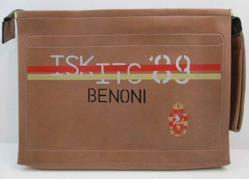 Senbank TSK/ITC '89 Benoni - Vintage Promotional Zip-Up Leatherette Folder - 38cm/28cm