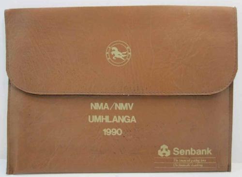 Senbank NMA/NMV Umhlanga 1990 - Vintage Promotional Leatherette Folder - 35cm/26cm