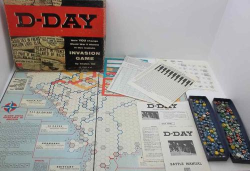 Vintage D-Day World War II Invasion Game By Avalon Hill Board Game