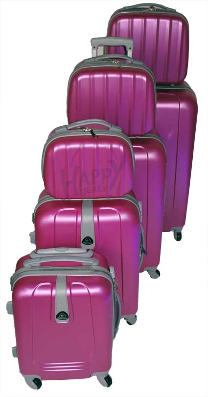 7 Piece Luggage Set With Four 360 Degree Rotative Wheels
