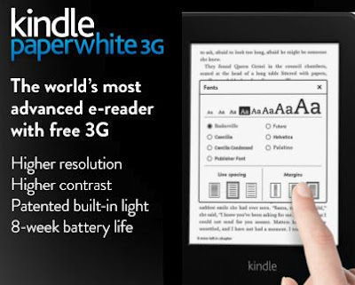 Amazon Kindle Paperwhite 3G, as new, opened box, unregistered
