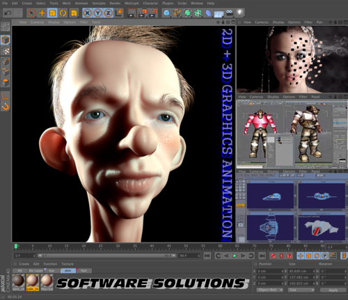 2D + 3D GRAPHICS ANIMATION, GAME