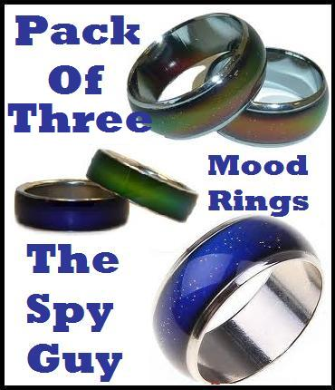 Rings mood ring x3 changes colour with the mood you in great
