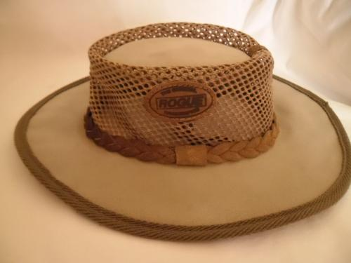 e48fcef13de Original ROGUE handcraftet in South Africa Leather   Canvas Mesh Bush Hat