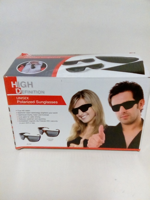 269d7621cb3 HIS AND HERS UNISEX POLARIZED SUNGLASSES.HIGH DEFINITION.HOMEMARK.Colour...  Black and Leopard print.Good quality Comes with sunglass casing.