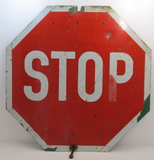 Vintage Metal Stop Sign - 60cm/60cm