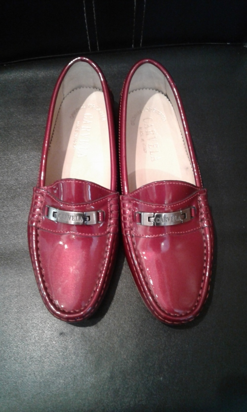 Flats Carvela Top Skipper Red Patent Leather Shoes