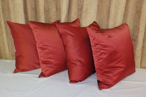 Image result for satin  RED X PINK CUSHIONS