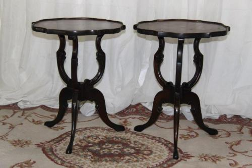 tables two exquisite antique scroll leg coffee