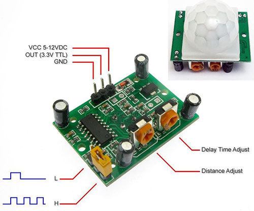 Electronic components pir infrared motion sensor hc