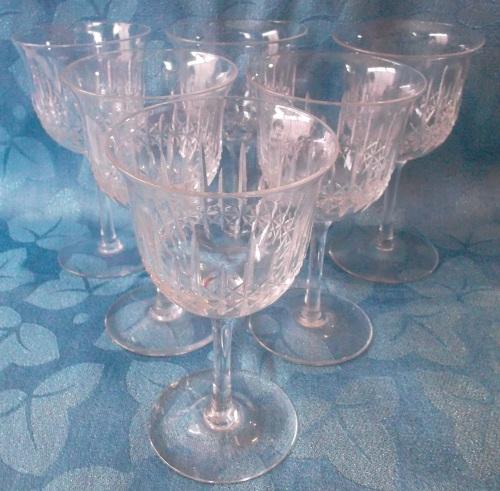 Drinking Glasses Stemware Vintage Webb Tulip Shaped