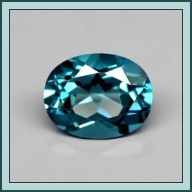 London Blue Topaz Oval 3.72ct