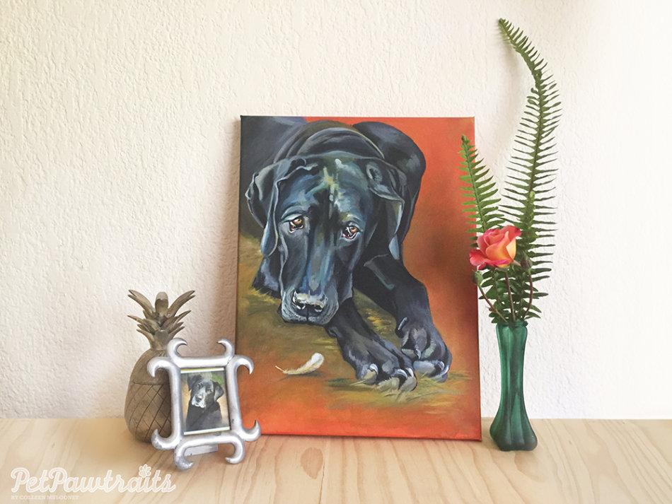 Great Dane acrylic dog painting