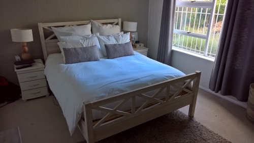 Headboards queen size extra length light wood bed frame was listed for r4 on 20 feb at - Extra tall bed frame queen ...