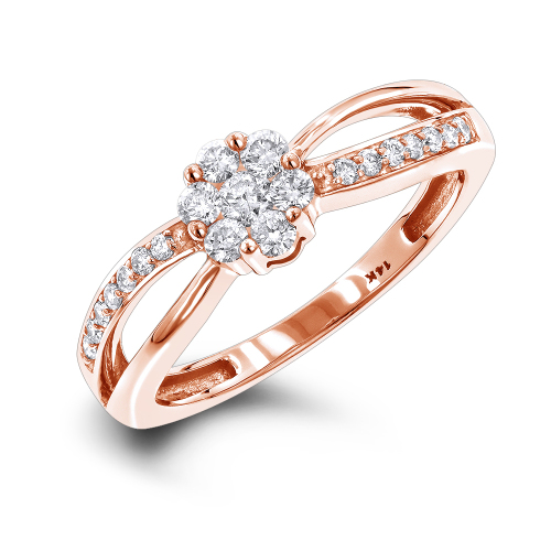 Engagement Rings Rose Gold Yellow Gold White Gold Luxurious 14K 0 4CT Gen