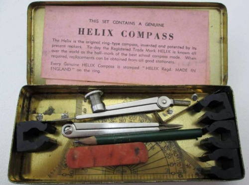 Vintage Helix, The Oxford Set Of Mathematical Instruments