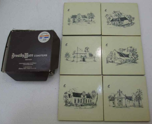 Drostdy Ware Coasters, Boxed Set Of 6