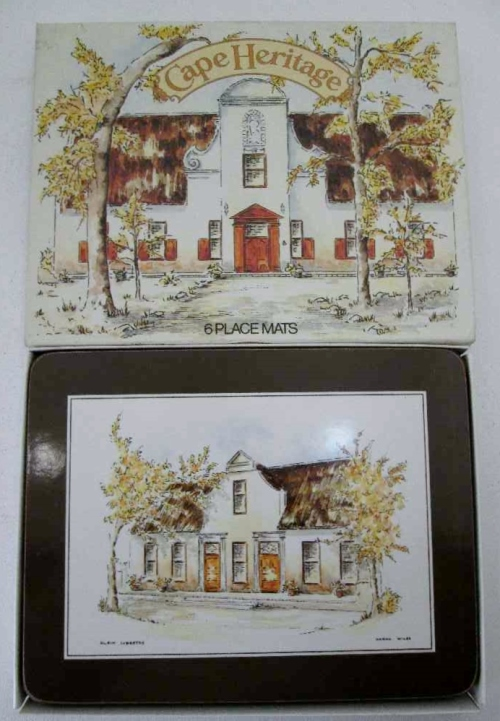 6X Cape Heritage Place Mats, Boxed