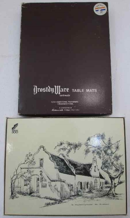 6X Drostdy Ware Table Mats, Boxed