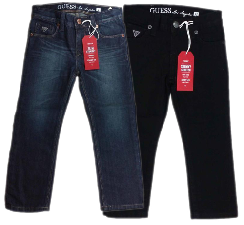 Guess - Jeans Known for its trend-setting collections, Guess jeans redefined denim and continues to create fashion-forward pieces. Iconic jeans in a range of styles, washes and fits to suit any situation.