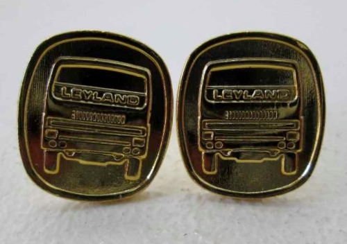 Leyland Trucks Cufflinks, Gold Coloured (As New)