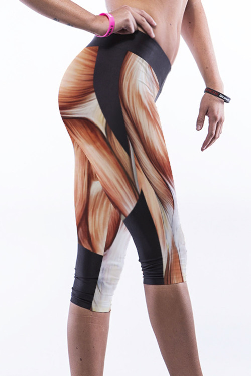 Muscle High Waisted Leggings, Printed Leggings, Women Activewear, Sexy Fitness Leggings, High Waist Yoga Pants, Workout Tights, Gift for Her BADINKA 5 out of 5 stars.