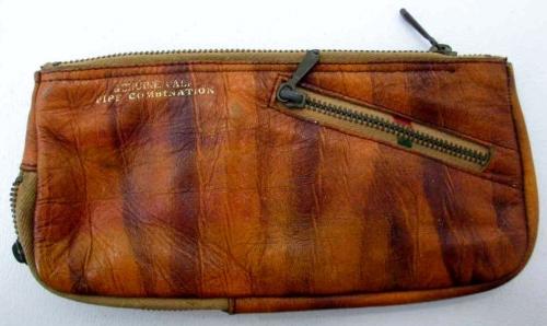 Vintage Genuine Calf Skin Pipe Storage Bag - 19cm/10cm
