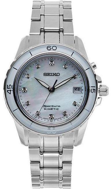 s watches seiko sporura kinetic 11 white