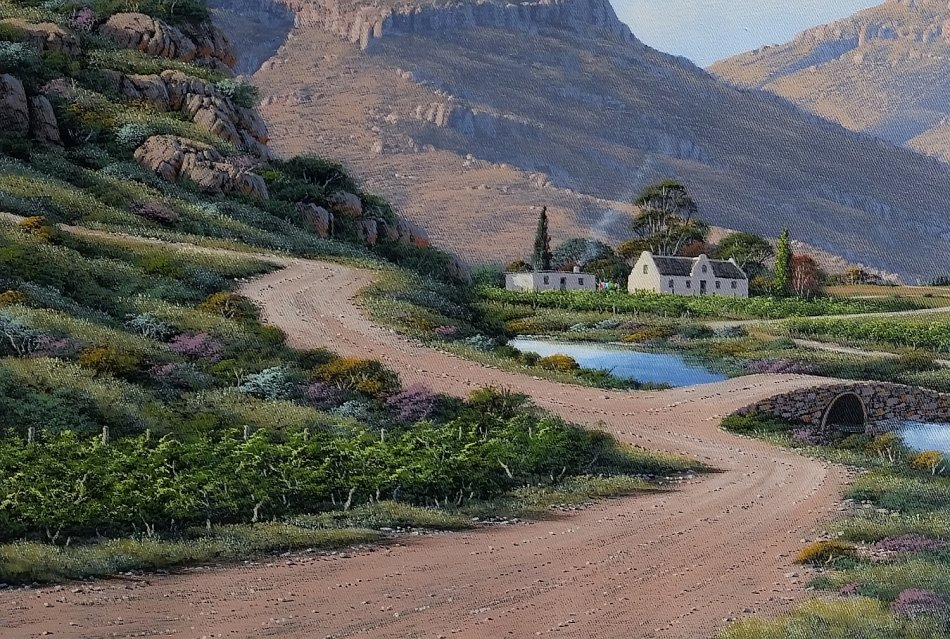 Paintings paul munro sa born oil mountain landscape for Sa landscaping