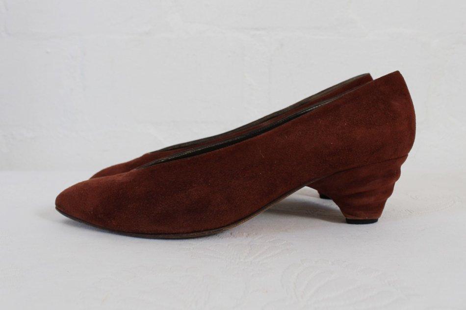 Brown Bally Shoe Chunky Heel Vintage
