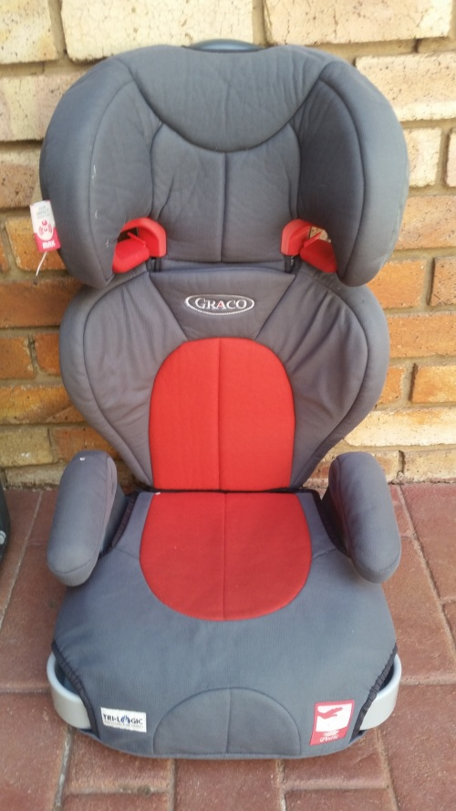 booster seats graco trilogic pedic booster car seat orange grey was listed for on. Black Bedroom Furniture Sets. Home Design Ideas