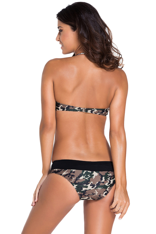 Swimwear - CHEEKY CAMO BANDED BIKINI BATHING SUIT - SMALL ...