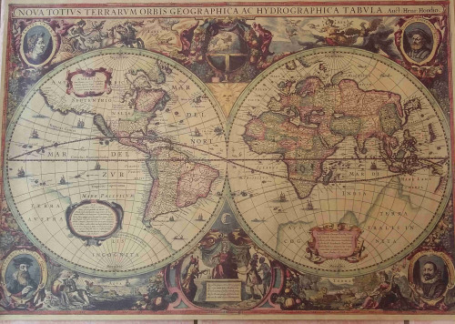 Posters World Map Vintage Style Distressed Poster Was Listed For - World map poster vintage style