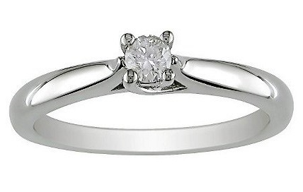Crazy 99 Cents SALE925 SILVER SIM Diamond Solitaire Engagement Ring
