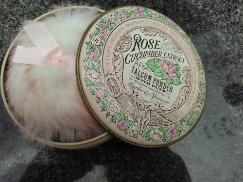 MARKS & SPENCER - Rose with Cucumber Extract Talcum Powder Tin - (With  Large Puff a