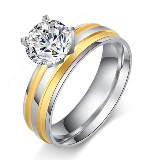 engagement rings beautiful solitaire 1 00ct white zircon